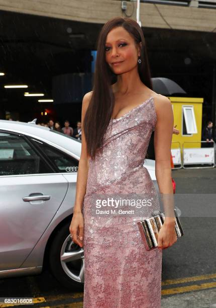 Thandie Newton arrives in an Audi at the BAFTA TV on Sunday 14 May 2017 on May 14 2017 in London United Kingdom
