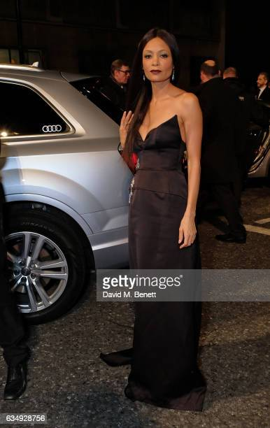 Thandie Newton arrives in an Audi at the EE BAFTA Film Awards at the at Royal Albert Hall on February 12 2017 in London England
