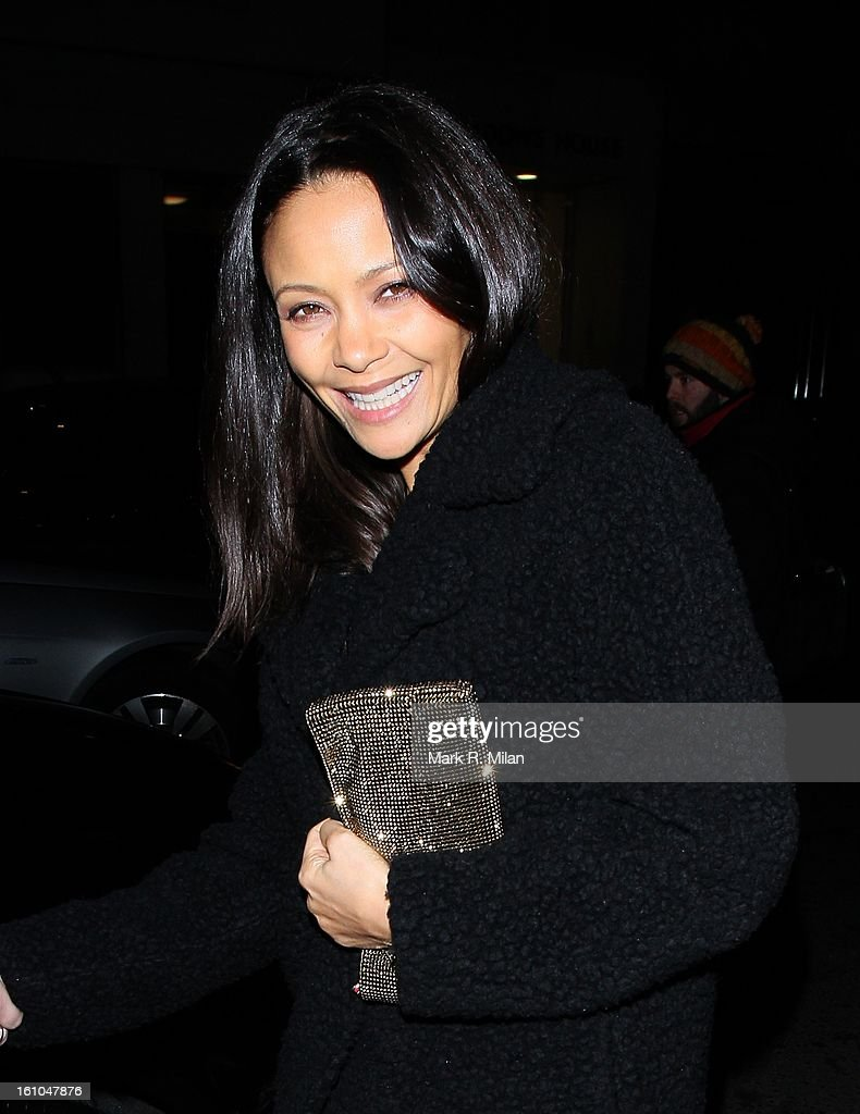 Thandie Newton at the Little House club on February 8, 2013 in London, England.