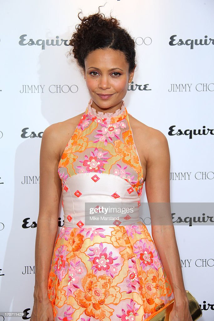 Thandie Newton attends a party hosted by Jimmy Choo Esquire during the London Collections SS14 on June 16 2013 in London England