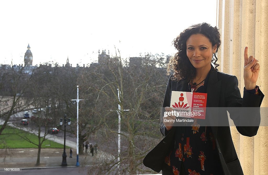 Thandie Newton attends a photocall to promote One Billion Rising, a global movement aiming to end violence towards women at ICA on February 5, 2013 in London, England.