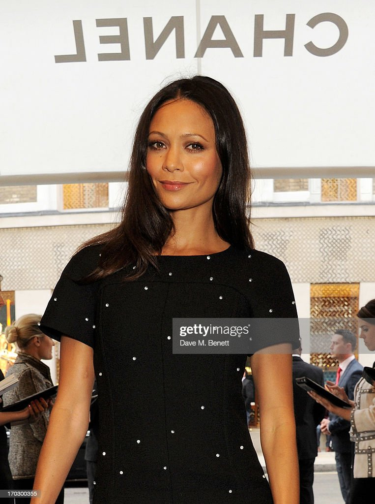 Thandie Newton attends a private view of the new CHANEL flagship boutique on New Bond Street on June 10, 2013 in London, England.