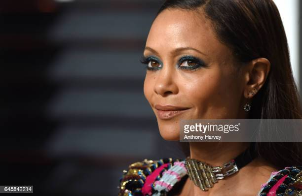 Thandie Newton attends the 2017 Vanity Fair Oscar Party hosted by Graydon Carter at Wallis Annenberg Center for the Performing Arts on February 26...