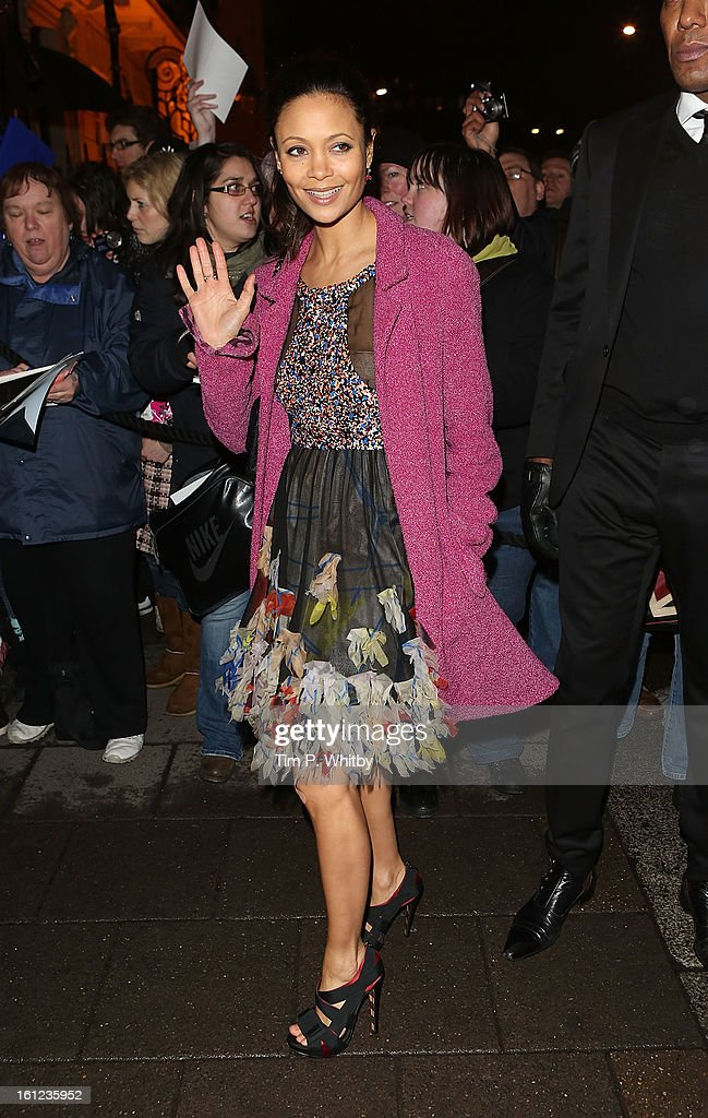 <a gi-track='captionPersonalityLinkClicked' href=/galleries/search?phrase=Thandie+Newton&family=editorial&specificpeople=210812 ng-click='$event.stopPropagation()'>Thandie Newton</a> attends the Charles Finch and Chanel pre-BAFTA dinner at Annabels on February 9, 2013 in London, England.