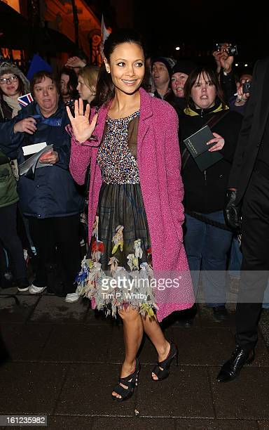 Thandie Newton attends the Charles Finch and Chanel preBAFTA dinner at Annabels on February 9 2013 in London England