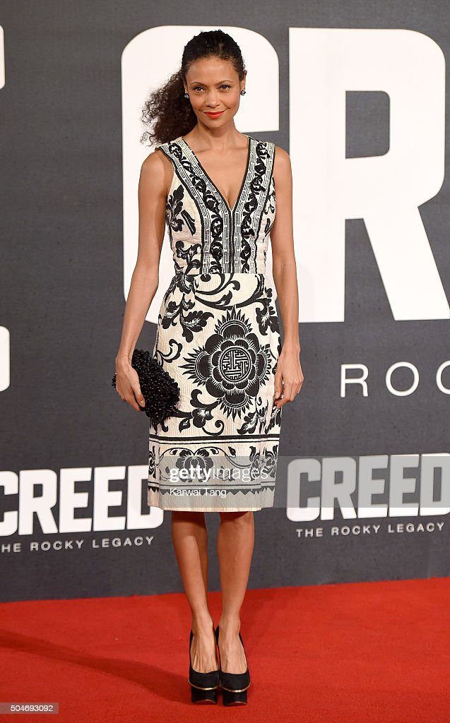 Thandie Newton attends the European Premiere of 'Creed' on January 12, 2016 in London, England.