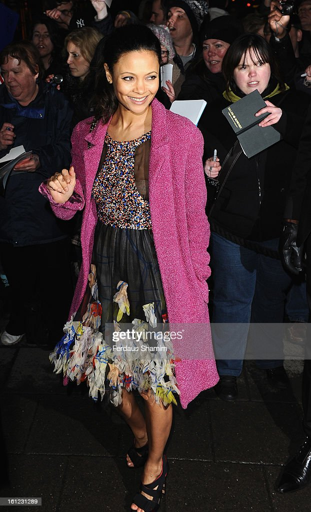 <a gi-track='captionPersonalityLinkClicked' href=/galleries/search?phrase=Thandie+Newton&family=editorial&specificpeople=210812 ng-click='$event.stopPropagation()'>Thandie Newton</a> attends the pre-BAFTA dinner hosted by Charles Finch and Chanel at Annabels on February 9, 2013 in London, England.