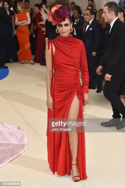 Thandie Newton attends the 'Rei Kawakubo/Comme des Garcons Art Of The InBetween' Costume Institute Gala at Metropolitan Museum of Art on May 1 2017...