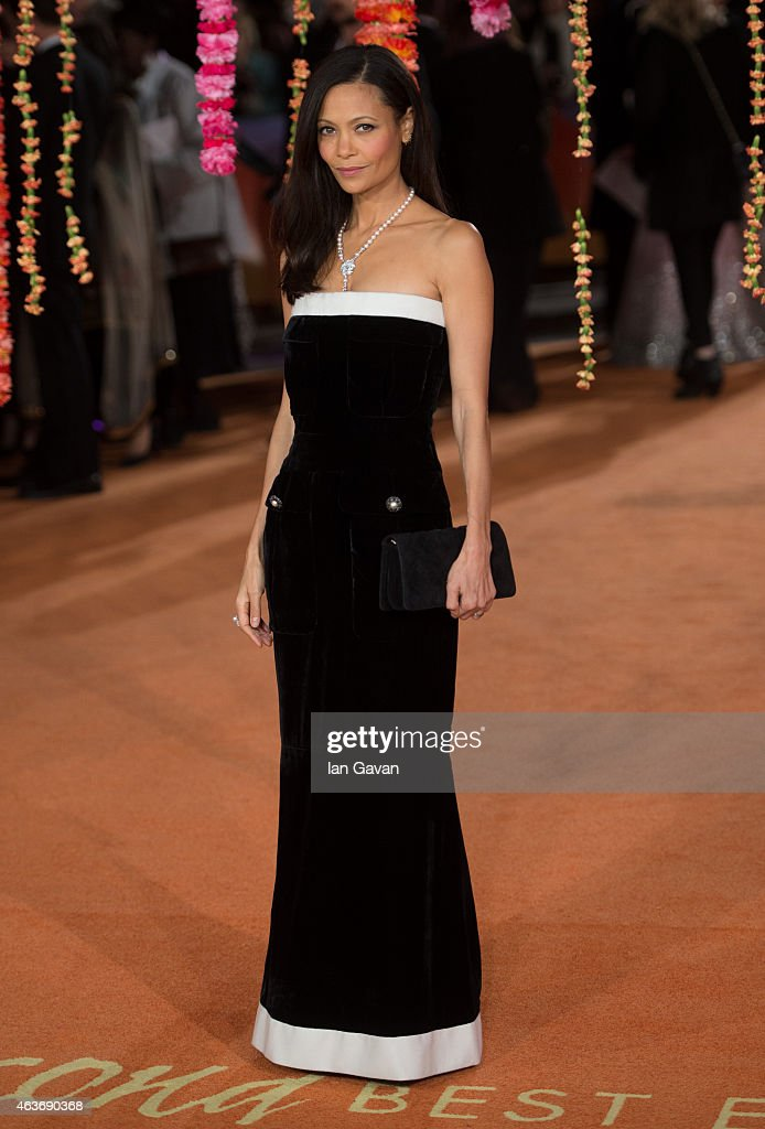 <a gi-track='captionPersonalityLinkClicked' href=/galleries/search?phrase=Thandie+Newton&family=editorial&specificpeople=210812 ng-click='$event.stopPropagation()'>Thandie Newton</a> attends The Royal Film Performance and World Premiere of 'The Second Best Exotic Marigold Hotel' at Odeon Leicester Square on February 17, 2015 in London, England.