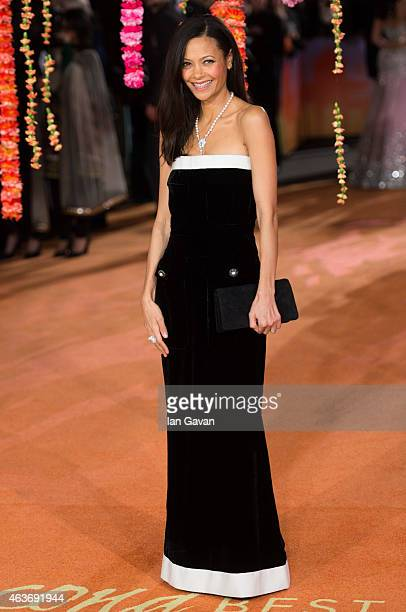 Thandie Newton attends The Royal Film Performance and World Premiere of 'The Second Best Exotic Marigold Hotel' at Odeon Leicester Square on February...