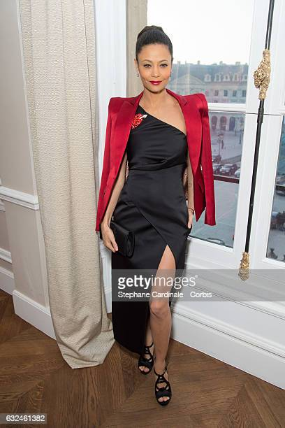 Thandie Newton attends the Schiaparelli Haute Couture Spring Summer 2017 show as part of Paris Fashion Week on January 23 2017 in Paris France