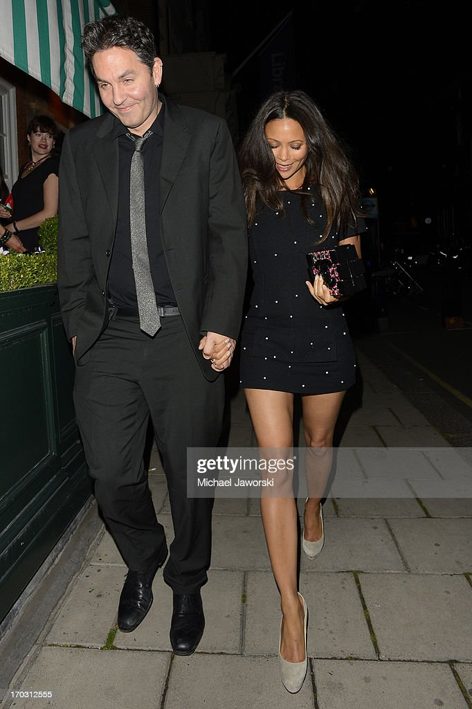 Thandie Newton leaving Harry's Bar after Chanel dinner. on June 10, 2013 in London, England.