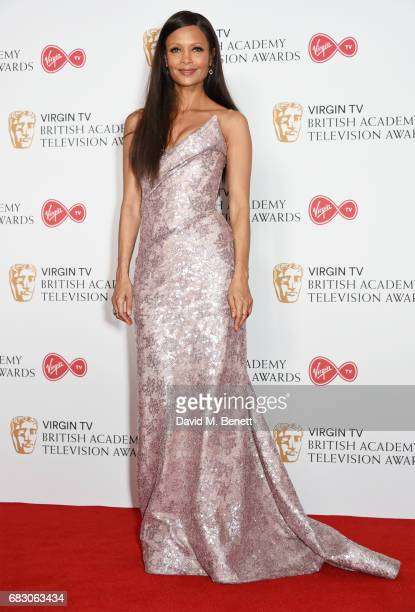 Thandie Newton poses in the Winner's room at the Virgin TV BAFTA Television Awards at The Royal Festival Hall on May 14 2017 in London England