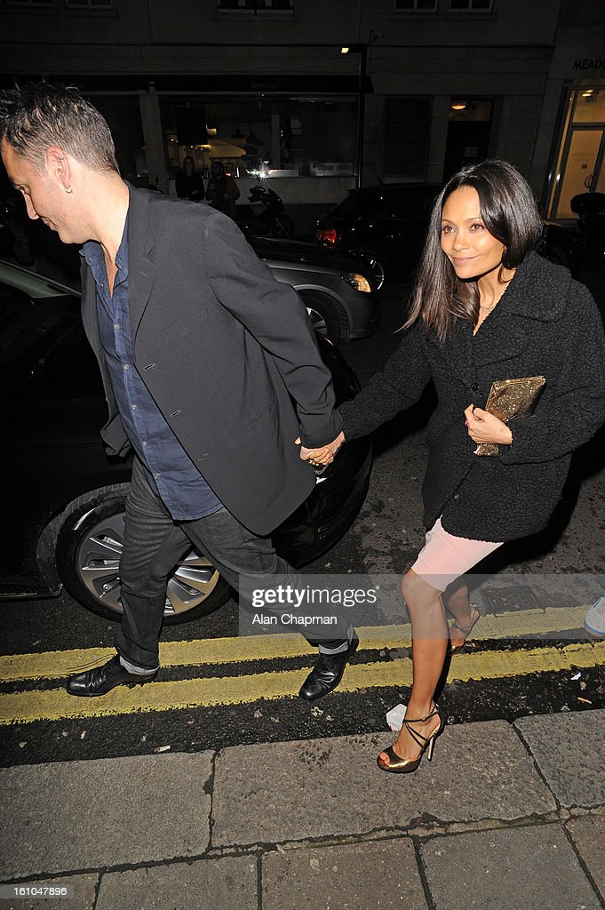 Thandie Newton sighting at Little House Mayfair on February 8, 2013 in London, England.