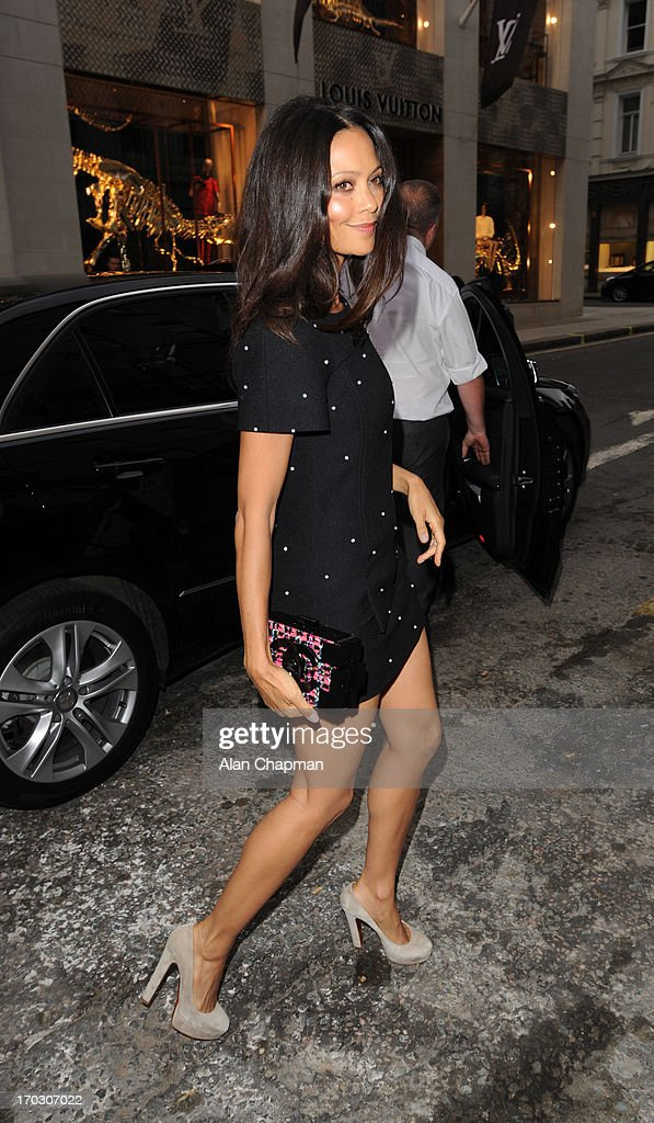 Thandie Newton sighting at the new CHANEL flagship store Mayfair on June 10, 2013 in London, England.