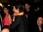 Thandie NewtonTom Cruise and Ol Parker attend the Charles Finch and Chanel PreBAFTA cocktail party and dinner at Annabel's on February 8 2013 in...