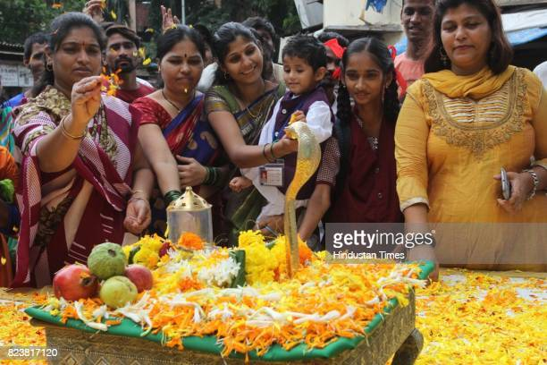Thane's NGO Wildlife Welfare Association organise cobra replica puja and spread to massage and awareness campaign about snakes on the occasion of Nag...