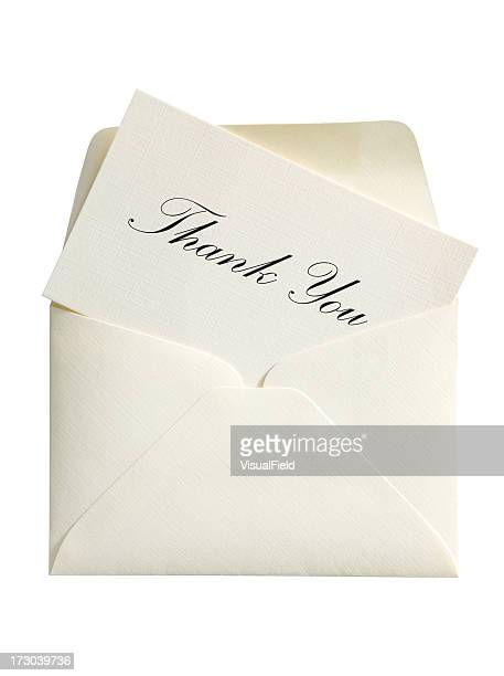 Thank You Card & Envelope with Clipping Path