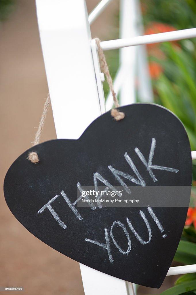 Thank you chalkboard : Stock Photo
