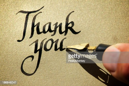 Thank You Calligraphy Stock Photos And Pictures Getty Images