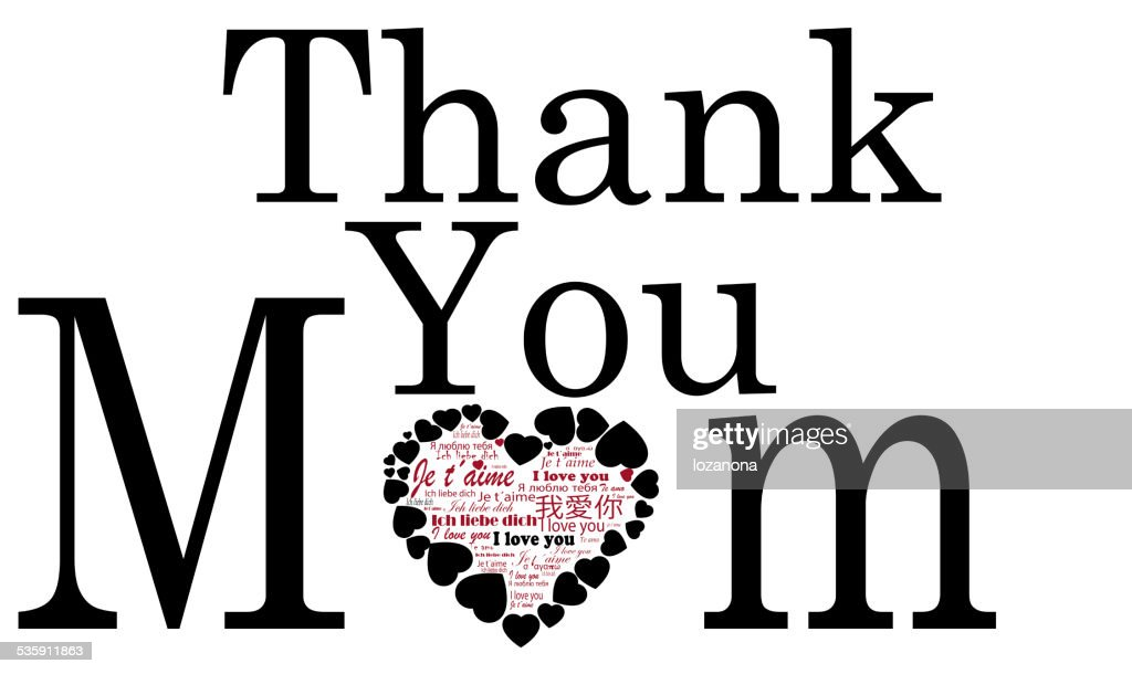 thank  you Mom,  Mothers day card : Stock Photo