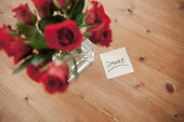 thank you note under roses bunch