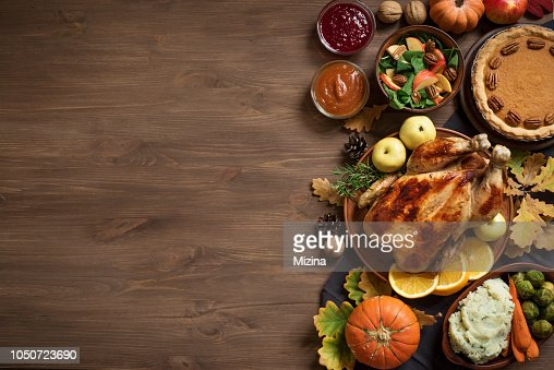 Thanksgiving-Dinner-Hintergrund : Stock-Foto