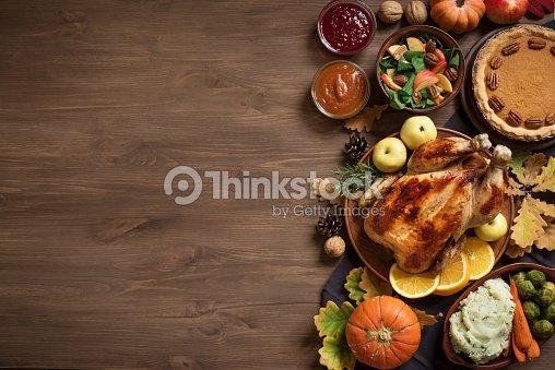 Thanksgiving Dinner background : Stock Photo