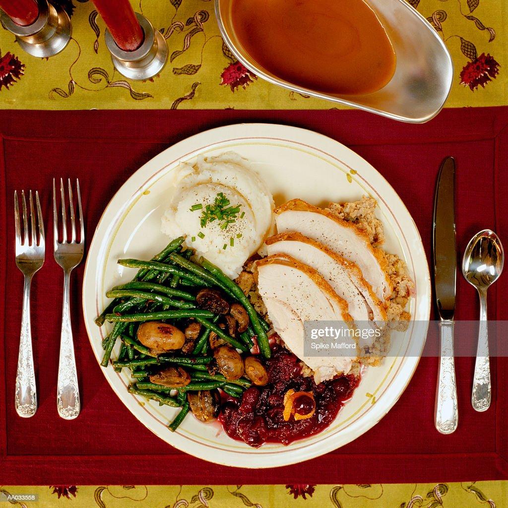 Thanksgiving Dinner : Stock Photo