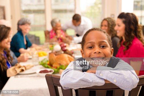 Thanksgiving: Family and friends gather for dinner at grandma's house.