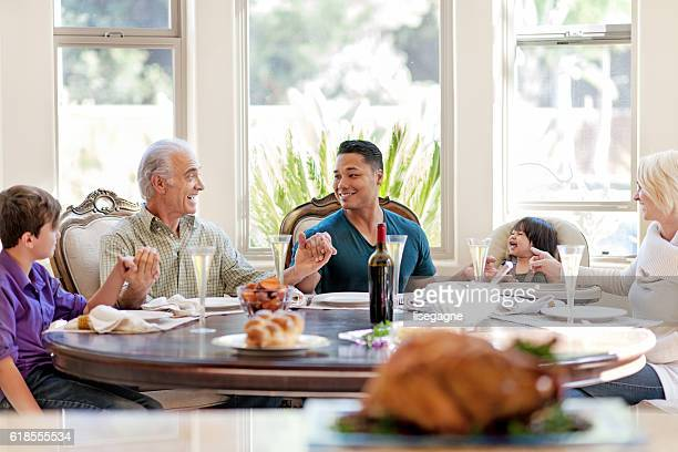 Jantar de Ação de Graças em família