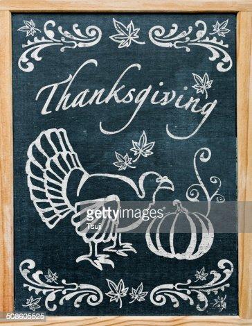 Saludos del Día de Acción de gracias : Foto de stock