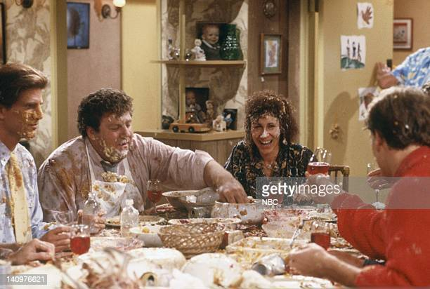CHEERS 'Thanksgiving Orphans' Episode 9 Pictured Ted Danson as Sam Malone George Wendt as Norm Peterson Rhea Perlman as Carla Tortelli Woody...