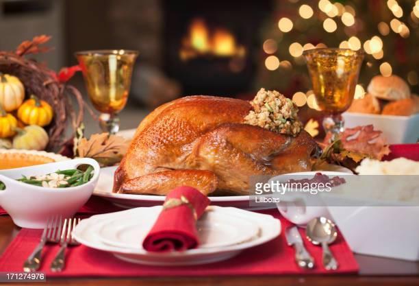 感謝祭用の七面鳥ディナー