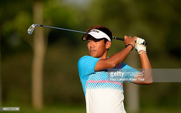 Thanyakon Khrongpha of Thailand plays a shot during the ProAm for the Thailand Golf Championship at Amata Spring Country Club on December 10 2014 in...