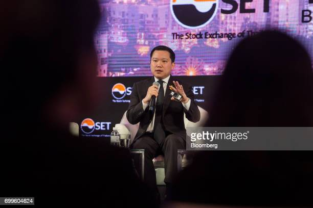 Thapana Sirivadhanabhakdi president and chief executive officer of Thai Beverage Pcl speaks during the Thailand's Big Strategic Move forum in Bangkok...