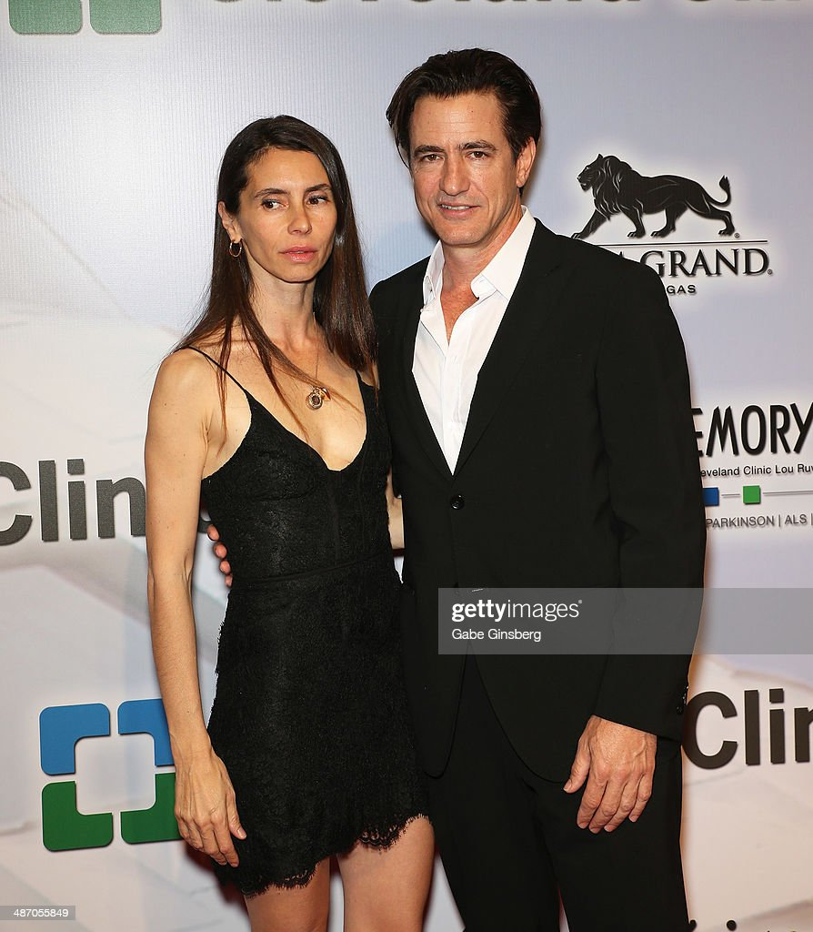 Tharita Catulle (L) and her husband, actor <a gi-track='captionPersonalityLinkClicked' href=/galleries/search?phrase=Dermot+Mulroney&family=editorial&specificpeople=208776 ng-click='$event.stopPropagation()'>Dermot Mulroney</a> attend the 18th annual Keep Memory Alive 'Power of Love Gala' benefit for the Cleveland Clinic Lou Ruvo Center for Brain Health honoring Gloria Estefan and Emilio Estefan Jr. at the MGM Grand Garden Arena on April 26, 2014 in Las Vegas, Nevada.