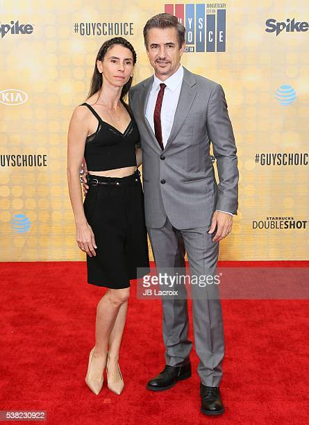 Tharita Cesaroni and Dermot Mulroney attend Spike TV's 'Guys Choice 2016' at Sony Pictures Studios on June 4 2016 in Culver City California