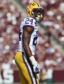 Tharold Simon of the LSU Tigers at Kyle Field on October 20 2012 in College Station Texas