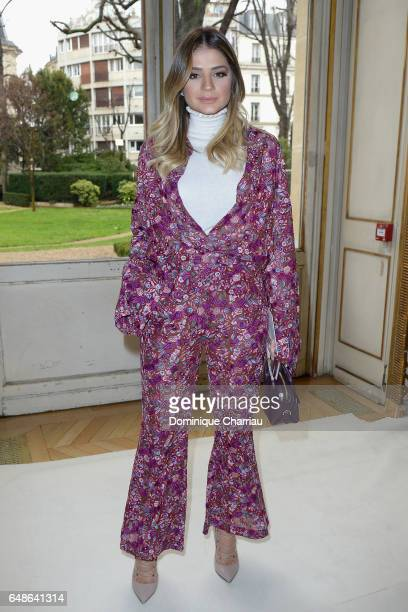 Thassia Naves attends the Giambattista Valli show as part of the Paris Fashion Week Womenswear Fall/Winter 2017/2018 on March 6 2017 in Paris France