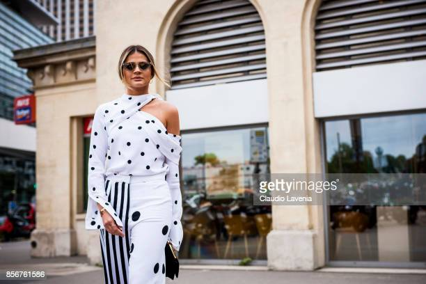 Thassia Naves is seen before the Giambattista Valli show during Paris Fashion Week Womenswear SS18 on October 2 2017 in Paris France