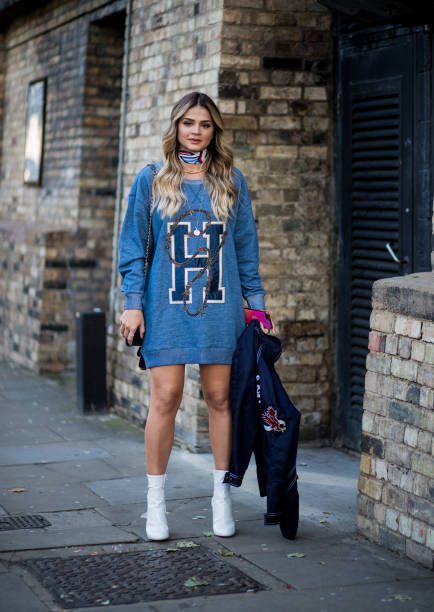 Image result for sweatshirt dress street style