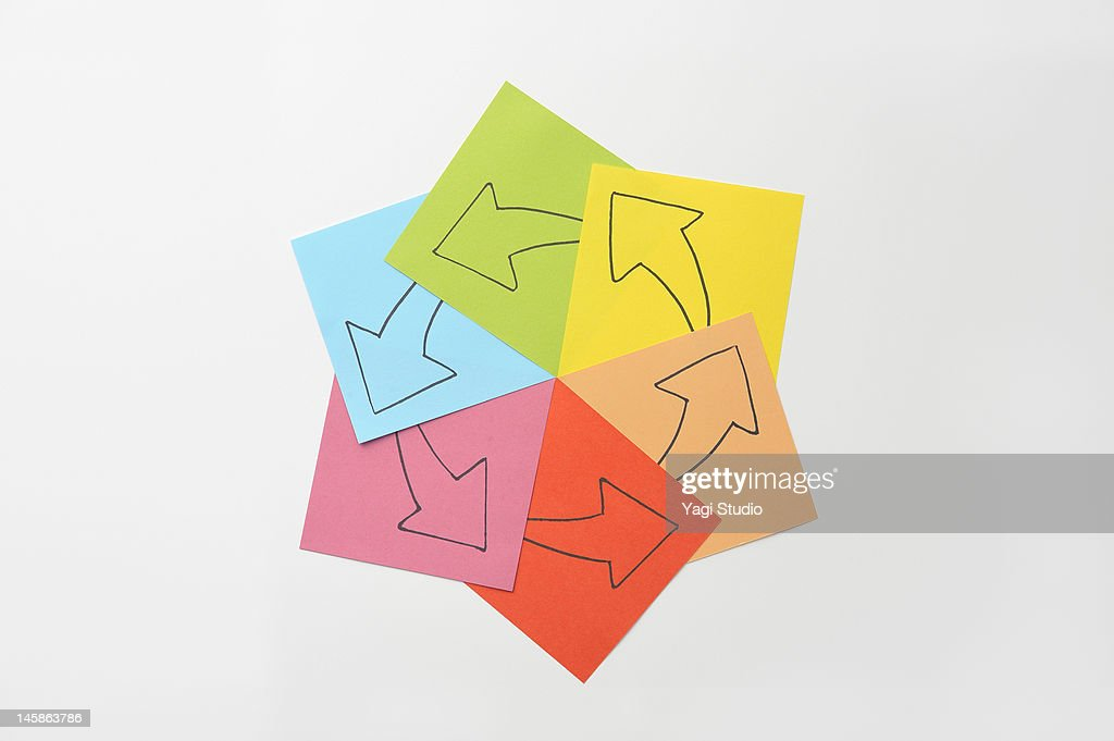 That the arrow drawn on paper : Stock Photo