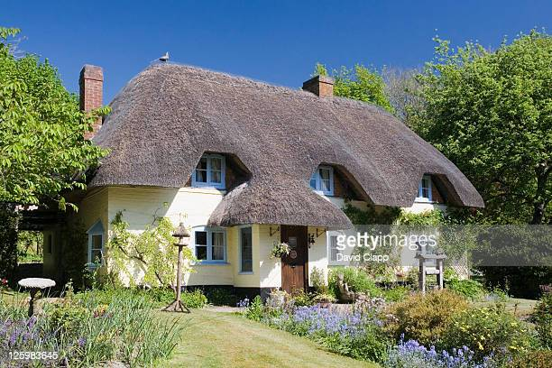 Thatched Cottage at Wherwell, Hampshire, England