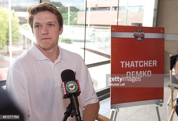 Thatcher Demko attends the 2014 NHL Draft Top Prospects Media Availability event on June 26 2014 at The National Constitution Center in Philadelphia...