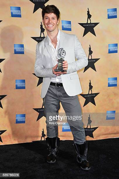 Thayne Jasperson poses for photographers during the 'Hamilton' Tony Awards After Party at Tavern On The Green on June 12 2016 in New York City