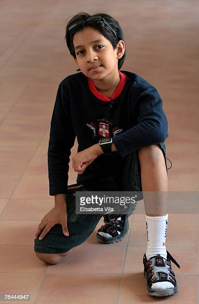 The 10yearold Indian actor/director Kishan Shrikanth the younger director in the world attends the Giffoni Film Festival on July 17 2007 in Giffoni...