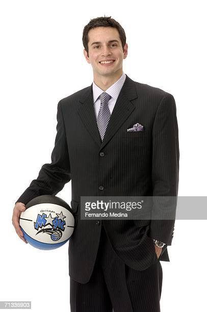 The 11th overall pick by the Orlando Magic in the 2006 NBA Draft JJ Redick poses for a portrait June 29 2006 at the RDV Sportsplex in Maitland...