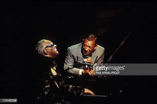 The 11th win of music in France in February 1996 Henri Salvador and Ray Charles showtime