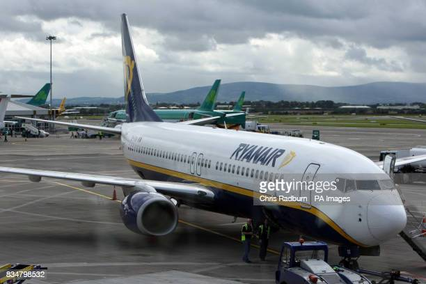 The 1255 from Dublin to Stansted stands on the tarmac at Dublin Airport Dublin Ireland
